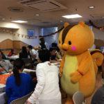 品川区のゆるキャラ・くるみちゃんが登場、大変盛り上がりました!